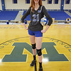 TIM JEAN/Staff photo<br /> <br /> Meghan Levesque, a senior, who stands at 6-foot-4 inches tall is an outstanding volleyball player for Methuen High.   10/8/19