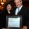 CARL RUSSO/Staff photo. Sam and Michele Ambra of Haverhill, owners of Simply Elegant Catering with their Appreciation Award for their support to American Training. <br /> <br />  American Training celebrated its 40th Anniversary and presented Ray DiFiore of Methuen with the 2019 Life Matters Award during the 18th Annual Life Matters Awards Gala on October 25 at the Andover Country Club. DiFiore was honored with the Life Matters Award for his dedicated career in public service in Lawrence and Methuen, and his commitment to American Training. <br /> <br /> Several other people and businesses were also honored with awards for Outstanding Partners, Vendor of the Year and Company of the Year. <br /> <br /> American Training is a non-profit organization based in the Merrimack Valley that provides housing, education, training & support services to people with disabilities, youth at risk & adult learners who are looking for a pathway towards a more meaningful life. 10/25/2019
