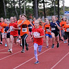 TIM JEAN/Staff photo<br /> <br /> Fifth grade girls from Londonderry's three elementary schools take off from the starting line during the annual town wide cross country races at Londonderry High.    10/10/19