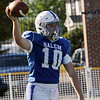 TIM JEAN/Staff photo<br /> <br /> Salem's Michael Ference celebrates scoring a touchdown against Bedford. Salem defeated Bedford 34-3 at Trinity Stadium in Haverhill.   10/19/19