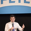 TIM JEAN/Staff photo<br /> <br /> Democratic presidential hopeful Pete Buttigieg speaks to supporters in a town hall style meeting at Derry Opera House.  10/31/19