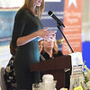 TIM JEAN/Staff photo<br /> <br /> Congresswoman Lori Trahan, speaks during the Merrimack Valley Chamber of Commerce annual Women in Business Conference. The luncheon held at Michael's Function Hall, and its featured speaker was Congresswoman Lori Trahan.   10/25/19