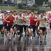 MIKE SPRINGER/Staff photo<br /> Runners leave the starting line in the boys race during a cross country meet Wednesday between Haverhill, Central Catholic and Billerica at Winnekenni Park in Haverhill. <br /> 10/02/2019