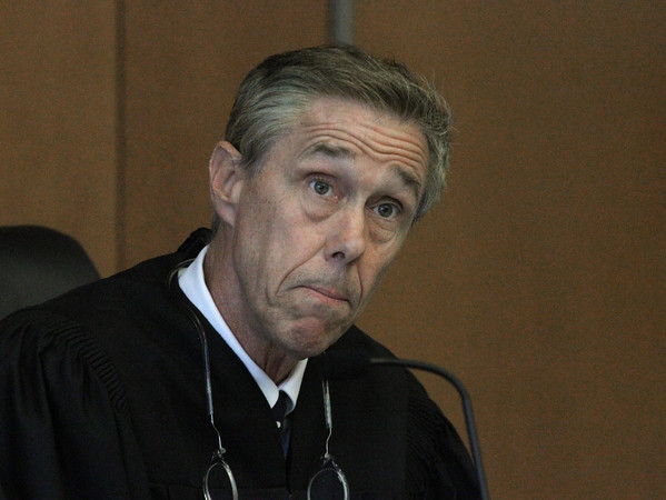MIKE SPRINGER/Staff photo<br /> Judge James Lang listens Monday during a hearing in Salem Superior Court concerning the proposed $143 million settlement with Columbia Gas for the Sept. 13, 2018 gas disaster.<br /> 10/07/2019