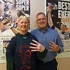 "RYAN HUTTON/ Staff photo<br /> Kathy Murphy, of Hampstead New Hampshire, has ""Beat Burt"" four times."