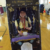 TIM JEAN/Staff photo<br /> <br /> Kinsey Fletcher, 9, made this fortune tellers costume fo the Spooktacular Costume Parade & Contest in Veterans Hall Gymnasium in Derry.   10/26/19
