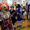 TIM JEAN/Staff photo<br /> <br /> Savannah Spaulding, 9, dressed as a scary clown parades around during the Spooktacular Costume Parade & Contest in Veterans Hall Gymnasium in Derry. Afterwards most went outside as businesses passed out candy for the Downtown Trick-or-Treating.  10/26/19