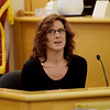 TIM JEAN/Staff photo<br /> <br /> Rachael David-DiGenova answers questions as she testifies on the witness stand during the bench trial of Dawn Marie Barcellona, in Rockingham County Superior Court in Brentwood, NH. Barcellona is on trial for driving under the Influence on Oct. 21, 2018.   10/9/19
