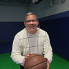 MIKE SPRINGER/Staff photo<br /> Jose Dilone, founder and director of Suenos Basketball (Basketball Dreams) on the court at the Esperanza Academy in Lawrence.<br /> 10/29/2019