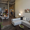RYAN HUTTON/ Staff photo <br /> People tour one of the two bedroom units in the newly renovated Arlington Point apartments on Broadway in Lawrence at the site of the old Van Brodie Mill building on Tuesday.