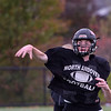 TIM JEAN/Staff photo<br /> <br /> North Andover quarterback Peter Radulski throws a pass during practice Tuesday.   10/22/19
