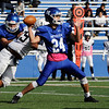 TIM JEAN/Staff photo<br /> <br /> Methuen quarterback JP Muniz throws a pass during a football game against Lawrence. 10/26/19