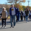 TIM JEAN/Staff photo<br /> <br /> Participants head down Willow Street during the Samaritans of Merrimack Valley 3rd annual Walk for Hope in North Andover. 10/19/19