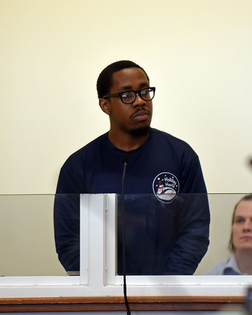 RYAN HUTTON/ Staff photo<br /> Nelson Giles, of Lawrence, appears in Essex County Superior Court in Salem on Wednesday of charges of being an accessory after the fact in the July murder of 24-year-old Nicole Connor, specifically helping alleged murderer Giovanni Lebron dispose of her body in the Spicket River.