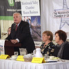 TIM JEAN/Staff photo<br /> <br /> Joe Bevilacqua, President Merrimack Valley Chamber of Commerce welcomes guests during the annual Women in Business Conference. The luncheon held at Michael's Function Hall, and featured speaker was Congresswoman Lori Trahan.   10/25/19