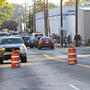 TIM JEAN/Staff photo<br /> <br /> Andover Street is blocked off near Broadway on Friday morning after a reported major gas leak caused a lockdown and evacuation of the South Lawrence.   9/27/19
