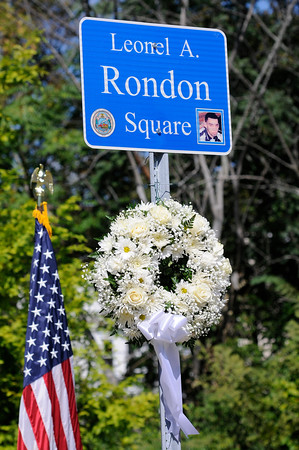 TIM JEAN/Staff photo<br /> <br /> Leonel A. Rondon Square. The square is on the corner of Chestnut and Jackson St., Lawrence not far from where Leonel Rondon had lived. Leonel Rondon was the single fatality in the Sept. 13, 2018 gas disaster.  9/13/19