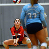 CARL RUSSO/Staff photo North Andover's Deanna Bosco returns the serve. North Andover defeated Dracut high in three straight games of volleyball action Monday afternoon. 9/30/2019