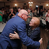 MIKE SPRINGER/Staff photo<br /> Methuen mayoral candidate Neil Perry is congratulated by his mother, Patricia Perry, after entering the room Tuesday evening to join supporters at the Irish Cottage after it was announced that he had won enough votes in the primary to be one of two candidates advancing to the general election.<br /> 9/17/2019