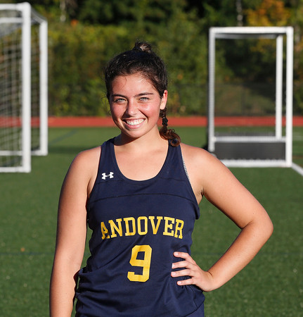 MIKE SPRINGER/Staff photo<br /> Andover varsity field hockey standout Heather Graham.<br /> 9/25/2019