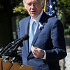 TIM JEAN/Staff photo<br /> <br /> US Senator Ed Markey speaks during the dedication ceremony for Rondon Square. The square is on the corner of Chestnut and Jackson St., Lawrence not far from where Leonel Rondon had lived. Rondon was the single fatality in the Sept. 13, 2018 gas disaster.  9/13/19