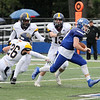 TIM JEAN/Staff photo<br /> <br /> Methuen quarterback Connor Bryant runs a for big gain on the keeper during a football game against Malden Catholic. Methuen won 47-14.  9/14/19