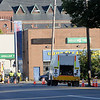TIM JEAN/Staff photo<br /> <br /> Gas technicians check the area of Broadway near Salem St., Friday morning after a reported major gas leak caused a lockdown and evacuation of the South Lawrence.   9/27/19