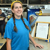 CARL RUSSO/staff photo. READING MAG: Cassidy Bradley, 24 of North Reading. <br /> <br /> The Lobster Claw, a North Reading family owned restaurant since 1976 was Started by Harry Gresek. His sons, Victor Gresek and Luke Gresek continue the family business after Harry's passing. The two brothers took over three years ago. The restaurant is known for its chowders and sauces and fresh seafood. 9/12/2019