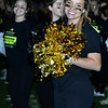CARL RUSSO/Staff photo Windham high cheerleader, Olivia Charest  and other cheerleaders cheer on the sideline during the game. The 9th Annual Windham high Jaguar Blackout Cancer Football Game was held on Friday night, September 27. <br /> <br /> Windham-grown Project Blackout kicks off a series of events around the town to generate awareness of pediatric cancer and raise funds to support research efforts and care for the children and families currently battling pediatric cancer in Windham. Students performed at the football game halftime show dedicated to families who have been helped by the project. 9/27/2019