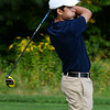 CARL RUSSO/staff photo. Central's Kyle Melo watches his shot. Andover vs.Central Catholic in golf action at the Renaissance Country Club in Haverhill. 9/17/2019