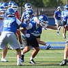 CARL RUSSO/Staff photo. Methuen high junior, Anthony Romano, center, is a hard-hitting linebacker for the Methuen Rangers football team.  9/16/2019