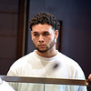 RYAN HUTTON/ Staff photo <br /> Brian Grande, 18, listens to the allegations against him during his arraignment in Haverhill District Court on Monday morning after a shooting on Jackson Street in Haverhill on Sunday in which no one was injured but two homes were struck by bullets.