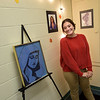 TIM JEAN/Staff photo<br /> <br /> Breanna Nigohofian, 21, of Lawrence, an iPad Drawing Artist is thrilled to have her work on display in the Merrimack Valley Music & Arts Pop-up Art Gallery during the first annual Art Walk throughout downtown Haverhill.    9/14/19