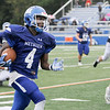 TIM JEAN/Staff photo<br /> <br /> Methuen running back Kareem Coleman runs for a touchdown during a football game against  Malden Catholic. Methuen won 47-14.  9/14/19