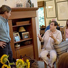 TIM JEAN/Staff photo<br /> <br /> Lucy Gagnon, right, of Salem, asks a question to Democratic presidential candidate Joe Sestak during a campaign stop during at the home of Salem Democratic Town Chair Janet Breslin-Smith and her husband Jim Smith.  9/12/19