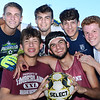 "CARL RUSSO/Staff photo Timberlane senior soccer players, front row:  Joe Casey and Cameron Ross. Back row: Dimitri Kakouris, Matt Barney, Ryan Boggiatto and Shawn Perry.    <br /> <br /> This will be the end of an era for Timberlane boys soccer. Seniors Cameron Ross, Dimitri Kakouris, Matt Barney, Shawn Perry, Ryan Boggiatto and Joe Casey are all the youngest siblings of many who have come through both the boys and girls programs at Timberlane. But for their ""last ride"" together, the Owls have started the season an undefeated 5-0-2.  9/27/2019"
