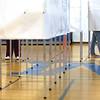 RYAN HUTTON/ Staff photo <br /> Methuen voters cast their ballots at the Marsh Grammar School polls on Tuesday.