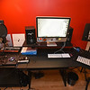 RYAN HUTTON/ Staff photo <br /> The recording studio in the basement of Juliana Cervizzi's Reading home.