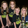 CARL RUSSO/Staff photo Cancer survivor Cayden Murray, 6 attends the event with his sisters, Regan, 15, right and Sophia, 11, left and their friend and Windham high cheerleader, Olivia Charest. The 9th Annual Windham high Jaguar Blackout Cancer Football Game was held Friday night on September 27. <br /> <br /> Windham-grown Project Blackout kicks off a series of events around the town to generate awareness of pediatric cancer and raise funds to support research efforts and care for the children and families currently battling pediatric cancer in Windham. Students performed at the football game halftime show dedicated to families who have been helped by the project. 9/27/2019