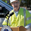 TIM JEAN/Staff photo<br /> <br /> Columbia Gas of Massachusetts President Mark Kempic  answers questions during a press conference about the major gas leak in South Lawrence.  9/27/19