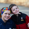 CARL RUSSO/Staff photo  Lisa Cordima of North <br /> Andover with her son Nathan, 6, wears her colorful headband designed with puzzle pieces, the most iconic and recognizable symbol of autism. She is running the Boston Marathon (now in September) for her son and the Doug Flutie Jr. Foundation. <br /> <br /> Also running for the foundation is Judy DeLeon of Bradford in memory of her son, Nathan, who was autistic and killed last year as a 12-year-old when he was riding his bike and a car crashed into him. 3/16/2020