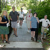 TIM JEAN/Staff photo<br /> <br /> Middleton Stream Team members gather on the Target Common Landmark Trail, which is organized around historic and natural features around the towns common. Standing from left to right are Sandy Rubchinuk, Brian York, Katrina O'Leary, Joan Caulfield, Judy Schneider and Pike Messenger on the trail. 7/21/20