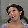 "MIKE SPRINGER/Staff photo<br /> Nicole Beauregard of Reading rehearses a scene in the Spotlight Playhouse's production of ""A Gentleman's Guide to Love and Murder.""<br /> 2/25/2020"