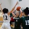 CARL RUSSO/Staff Photo. On February 26, Brooks School defeated St. Mark's 81-25 in girls basketball action during senior night. Senior Molly Madigan of North Andover looks to pass. 2/26/2020<br /> .