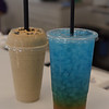TIM JEAN/Staff photo <br /> <br /> A chocolate Peanut Butter Banana Smoothie and a Mermaid Water Mega Tea at The Nutrition Corner. The Juice and Smoothie bar is on the corner Route 111 and Island Pond Road in Derry.     1/31/20