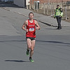 MIKE SPRINGER/Staff photo<br /> Last year's winner, Jacob Wormald of Derry, New Hampshire, approaches the finish line in second place during the 13th annual Frozen Shamrock Road Race on Sunday in downtown Haverhill.<br /> 1/23/2020