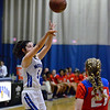 CARL RUSSO/Staff photo Methuen's <br /> Stephanie Tardugno  takes the jump shot. Methuen defeated Somerville 61-47 in girls' basketball action Tuesday night. 2/18/2020