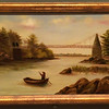 The Chain Bridge, Merrimack River, 19th Century is by an unknown artists. The oil on linen painting was purchased by the Addison Gallery of American Art, Phillips Academy, Andover, MA., in 1950.
