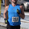 TIM JEAN/Staff photo <br /> <br /> <br /> Jefferson Welch, of Manchester, was the first male to finish the annual Bradford Valentine Road Race. Finishers received a small box of chocolates, commemorative medal, and a Valentines flower.  2/8/20
