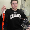 CARL RUSSO/Staff photo. Keegan Hughes is a top player for the North Andover hockey team. He is a hard-hitting defenseman. He's also a lacrosse star. 2/19/2020.